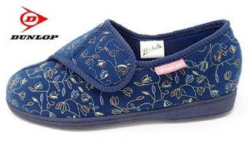 Dunlop BLUEBELL  Touch & Close Washable  slippers NAVY